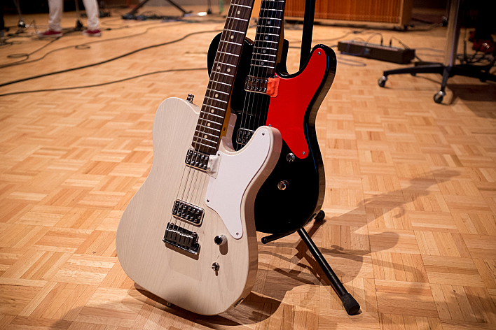 The Selecter's Anthony Harty's guitars.