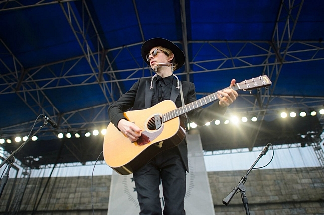 Beck at the 2013 Newport Folk Festival.