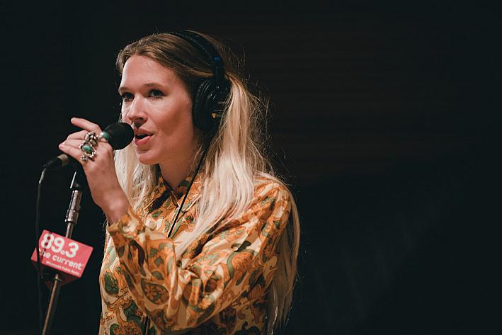 Natalie Bergman of Wild Belle in the studios of 89.3 The Current
