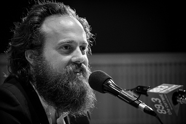 Sam Beam of Iron & Wine in The Current studios.