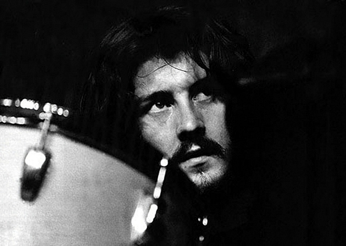 John Bonham behind his drums.