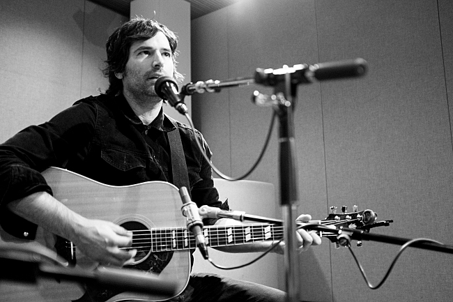 Pete Yorn of The Olms in The Current studios.