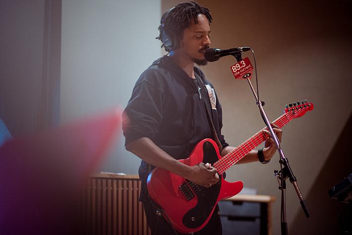 Black Joe Lewis in The Current Studios.