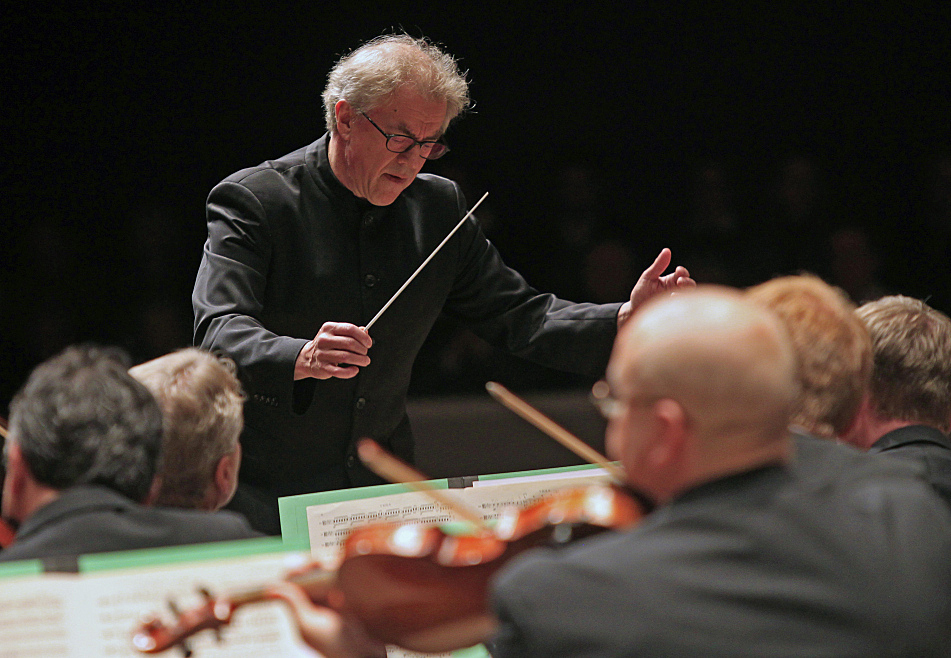 The Minnesota Orchestra gathers at Tedd Mann Concert Hall at the University of Minnesota to play the first of three final concerts with Conductor Osmo Vanska, who resigned last week following a year-long lockout of the orchestra by management due to a labor dispute.