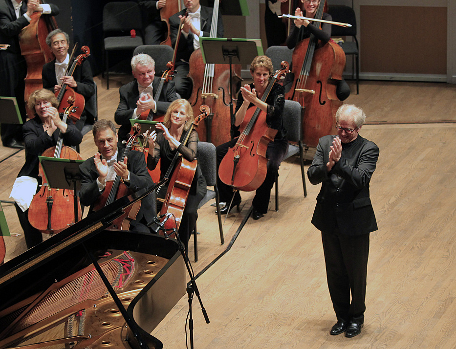 Conductor Osmo Vanska directs the orchestra in the first of his three final concerts on Friday, Oct. 4, 2013.  Vanska resigned Tuesday.