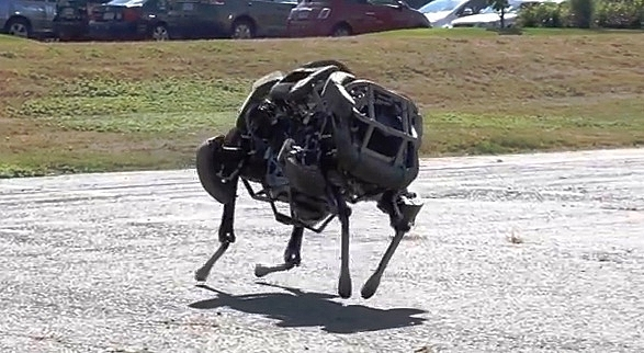 The Wildcat robot can run upto 16mph.