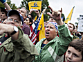Military Supporters Rally In Washington To Re-Open