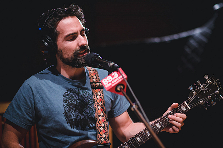 Eric Earley of Blitzen Trapper plays his 1974 Gibson SG while performing in The Current's studio.