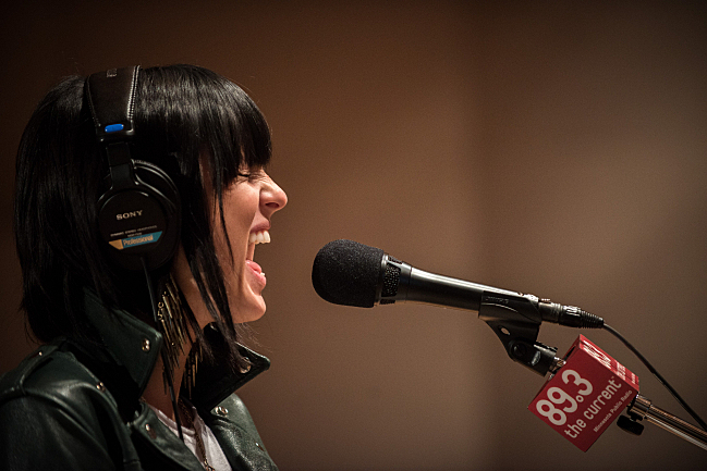 """Sarah Barthel sings """"The Day You Died"""" live in The Current studios."""