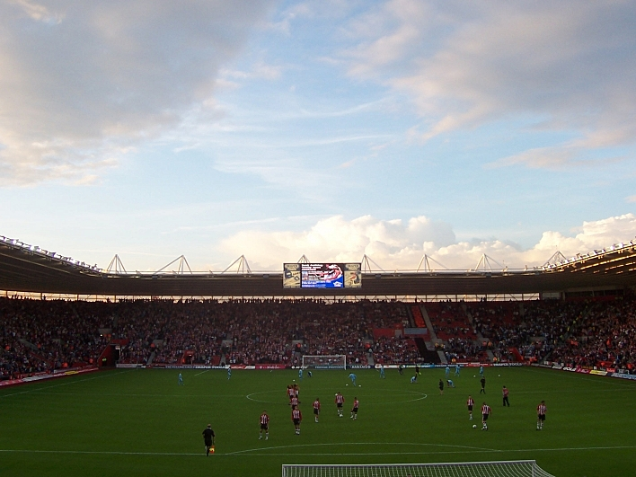 Friends Provident St. Mary's Stadium in Southampton, England.