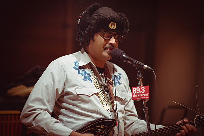 King Khan's Arish Ahmad Khan performing live in The Current studios.