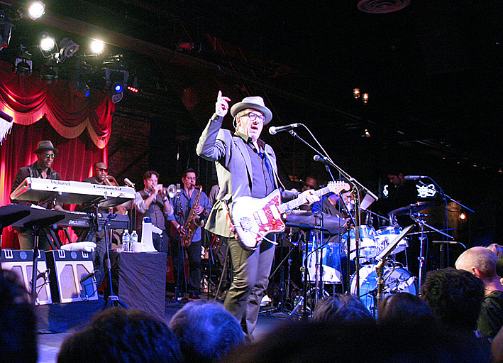 Elvis Costello and The Roots at The Brooklyn Bowl, September 16, 2013.