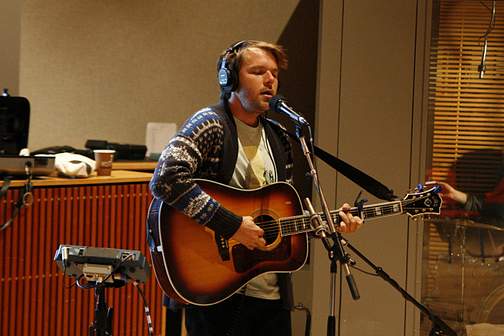Josiah Johnson of The Head and the Heart in The Current's studios.