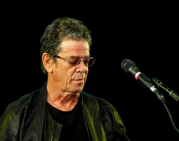 Lou Reed performing at the Hop Farm Music Festival on Saturday, July 2, 2011.