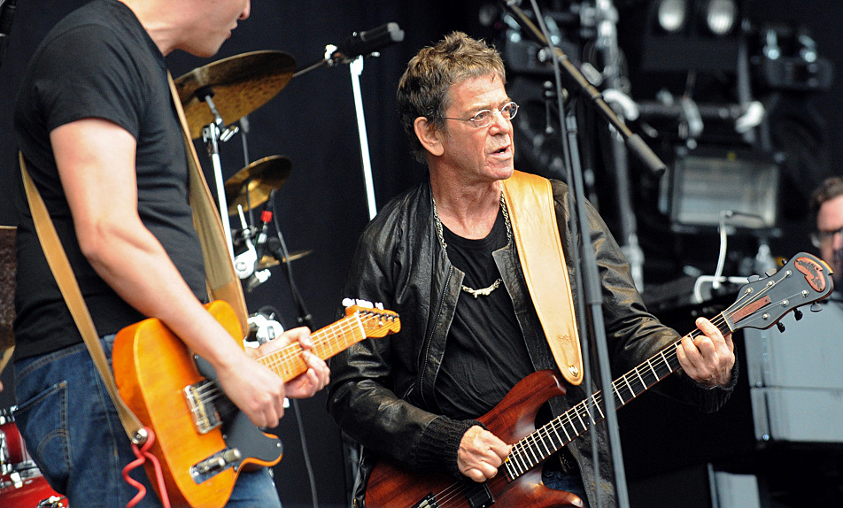 Lou Reed performs on the stage of the 20th edition of the Vielles Charrues Music Festival on July 17, 2011, in Carhaix, Brittany, France.