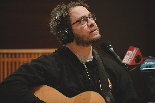 Amos Lee in The Current studios.