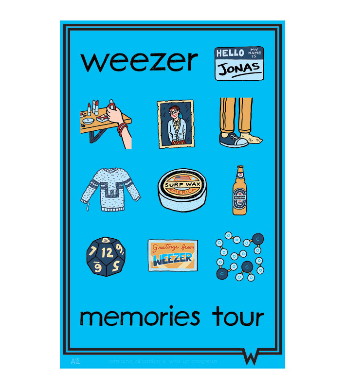 Limited-edition Weezer poster / Blue Album