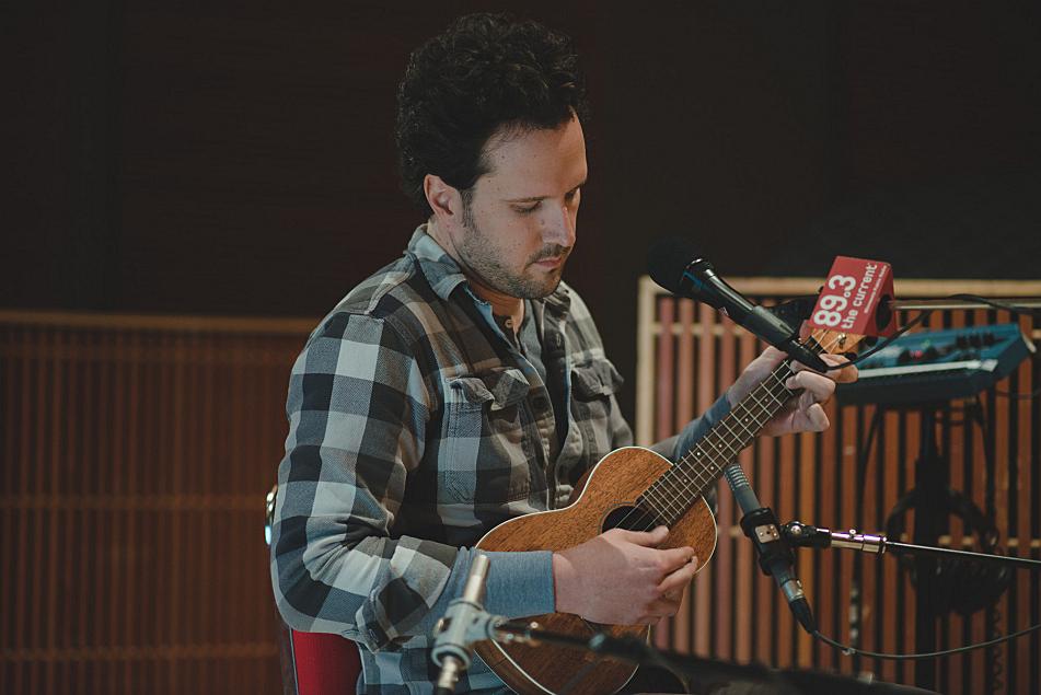 Mason Jennings plays ukulele in The Current's studio.
