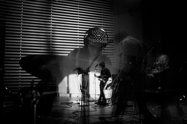 Jordan Bleau of Gloss performs in The Current studios