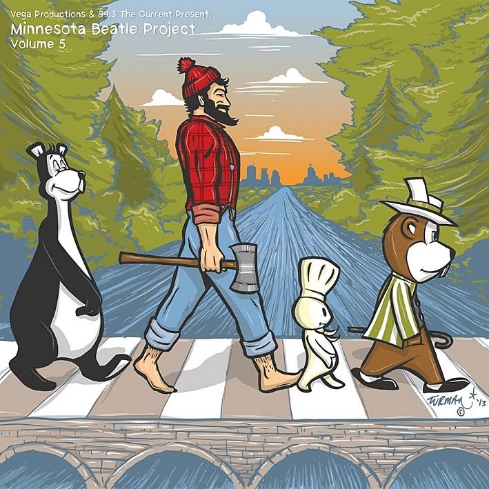 Minnesota Beatle Project Vol 5 album artwork by Adam Turman.