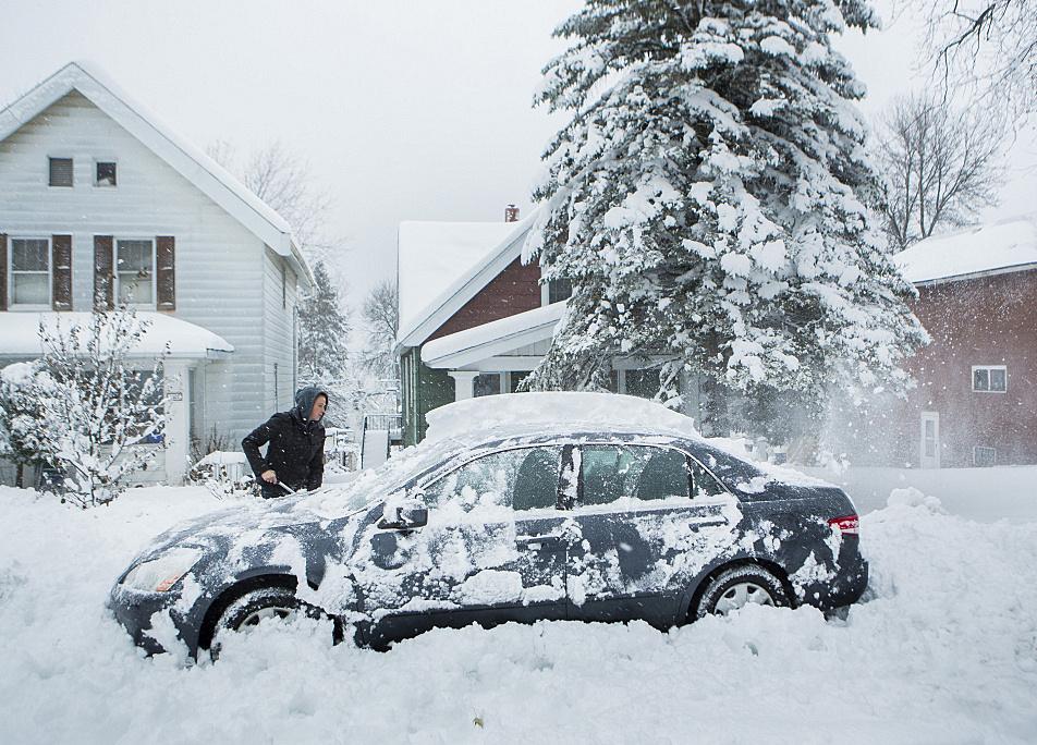 Photos Winter Storm Moves Through Minnesota Minnesota