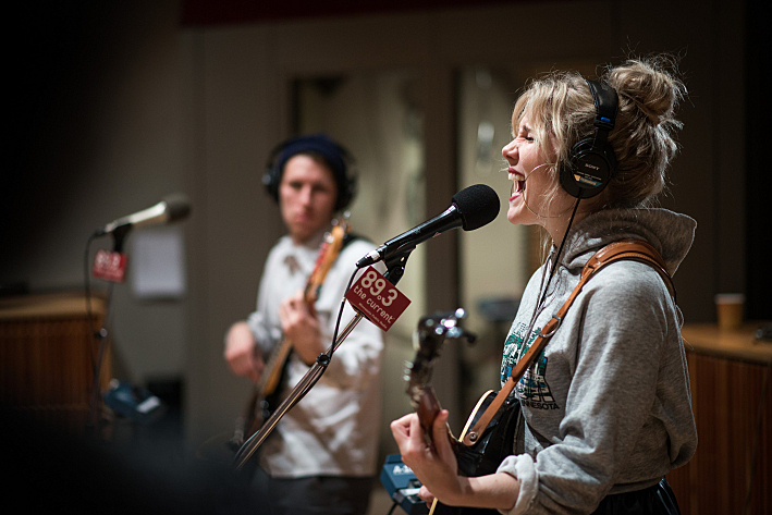 Caroline Smith and her band perform in The Current studios
