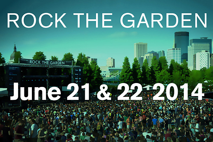 Mark your calendar for Rock the Garden 2014.