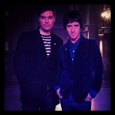 Jake introduced Johnny Marr to the Varsity Theater stage on April 23, 2013.
