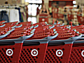 Rows of Target carts