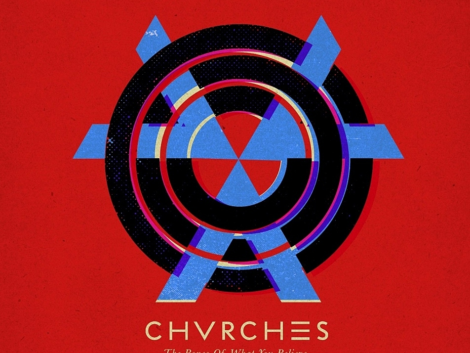 Album cover of 'The Bones of What You Believe' by CHVRCHES.
