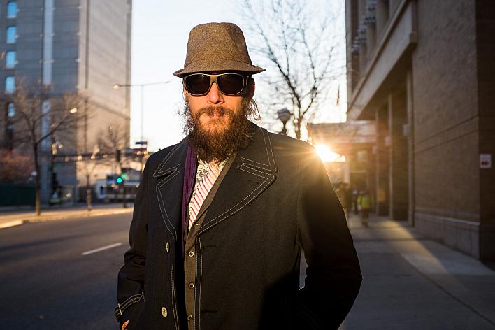 <em>The Voice</em> finalist Nicholas David in the streets of his hometown St. Paul, Minn.
