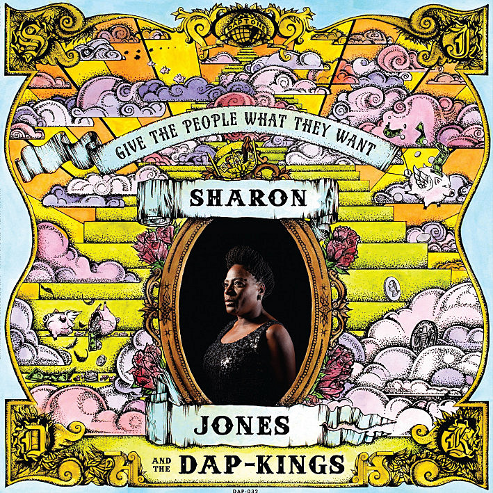 Album cover of Sharon Jones and the Dap-Kings new album, 'Give the People What They Want'