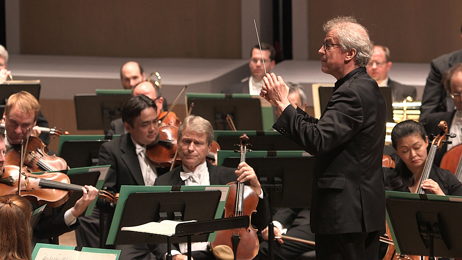 Osmo Vanska conducts the Musicians of the Minnesota Orchestra at Ted Mann Concert Hall, Oct. 5, 2013.