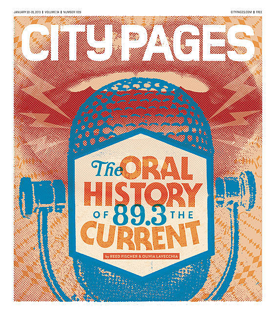 Cover of 'City Pages' issue that contains '89.3 The Current: An oral history'