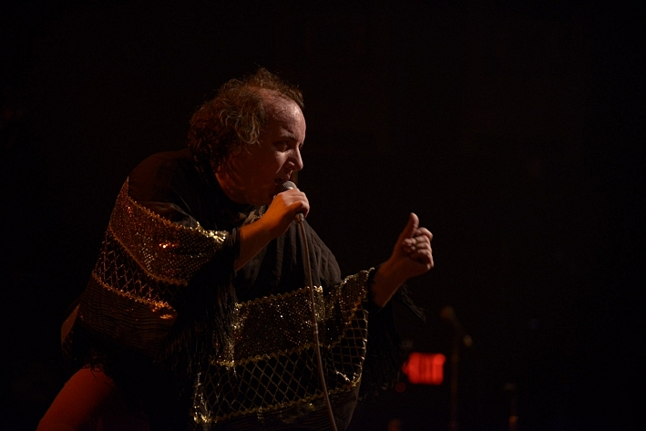 Har Mar Superstar on stage at The Current's Birthday Party
