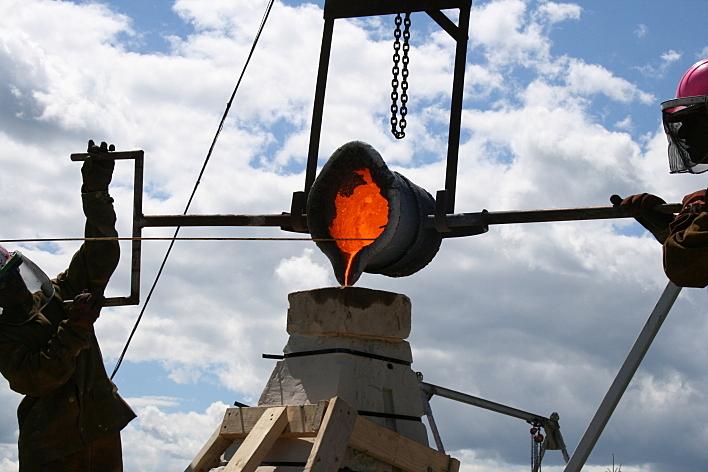 Franconia Sculpture Park in Franconia, Minn., offers workshops where participants create cast-iron sculptures.