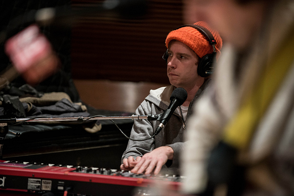 Dr. Dog's Scott McMicken takes a turn at keyboards.