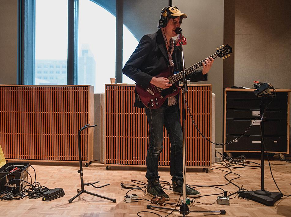Stephen Malkmus performing in The Current's studio.