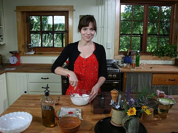 "Amy Thielen hosts her Food Network program, ""The Heartland Table,"" from her Park Rapids home. Thielen was nominated for two James Beard Awards today -- one for the show and another for her most recent cookbook, ""The New Midwestern Table."""