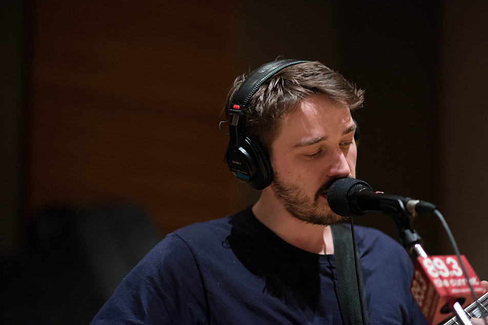 Kins front man Thomas Savage performs in The Current's studio