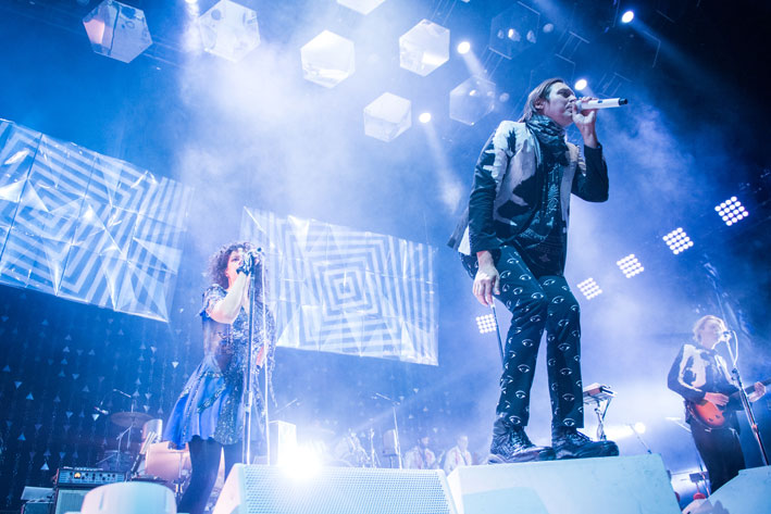Arcade Fire live at Target Center, March 8, 2014.