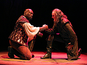 Peter Macon as Othello, Stephen Yoakam  as Iago