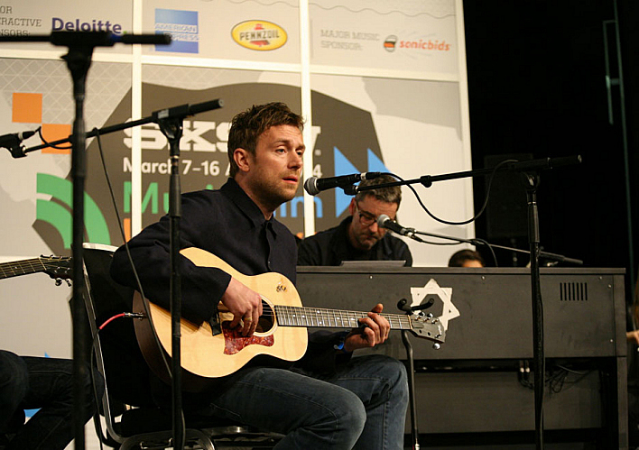 Damon Albarn live at the Public Radio Rocks daystage.