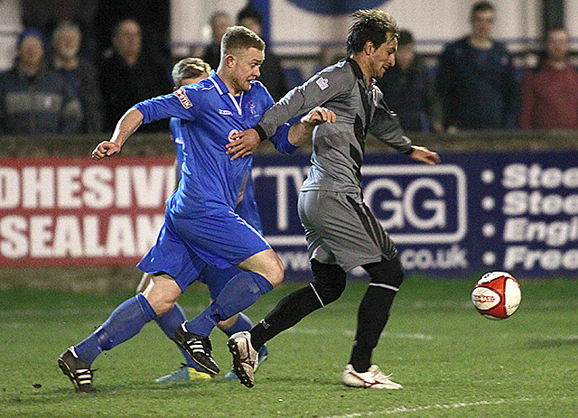 Minnesota United's Juliano Vincentini in action against Matlock Town F.C.