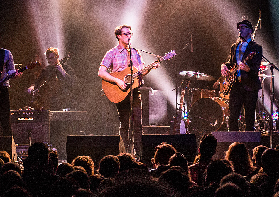 Jeremy Messersmith plays his new Martin guitar at First Avenue in Minneapolis.