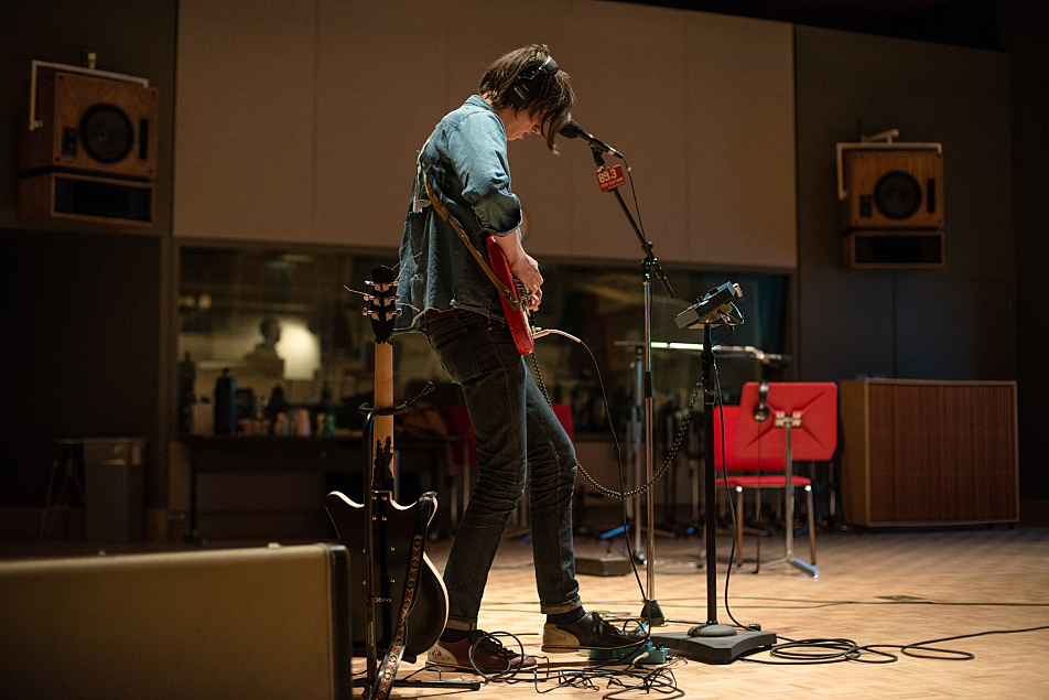 Howler perform in The Current's studio.