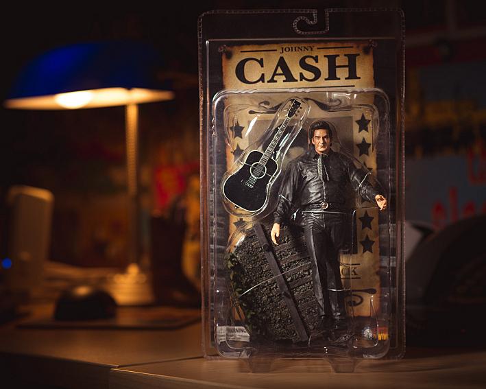 Bill DeVille's Johnny Cash action figure -- still in the box.