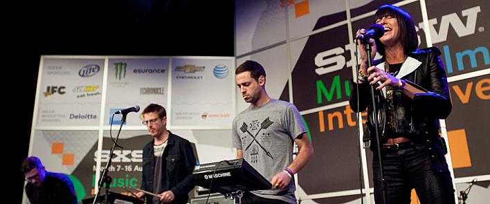 Phantogram performing at the 2014 Public Radio Rocks showcase in Austin, TX during SXSW 2014.