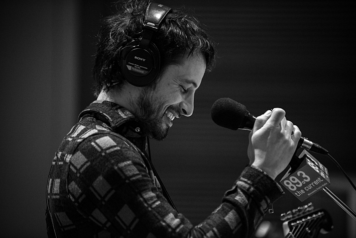 Sam Roberts in The Current's studio