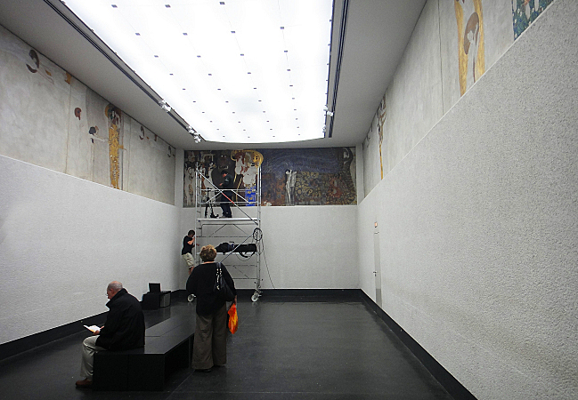Klimt's Beethoven Frieze on display